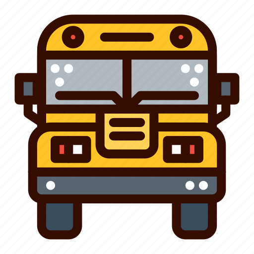 Bus, front, school, transportation icon - Download on Iconfinder