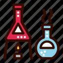 alchemy, education, glass, science icon