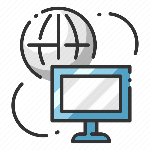 communication, computer, informatics, information, internet, network, technology icon