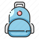 backpack, bag, education, put, school, sling, student icon