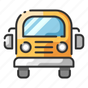 bus, public, safety, school, transportation, vehicle icon