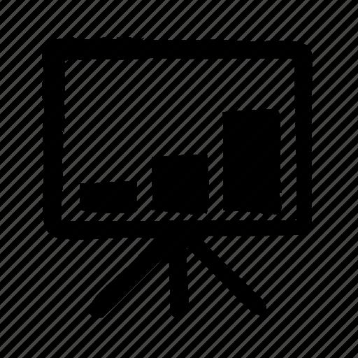 analytics, chart, graph, whiteboard icon