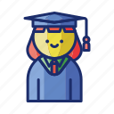 graduation, student, hat, female