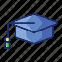 cap, graduation, hat