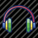 headphone, music, sound