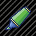marker, highlighter, pen