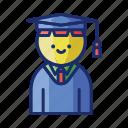 male, hat, student, graduation