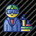 laboratory, male, teacher, in