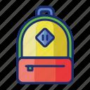 bag, school, education