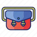 bag, sling, suitcase