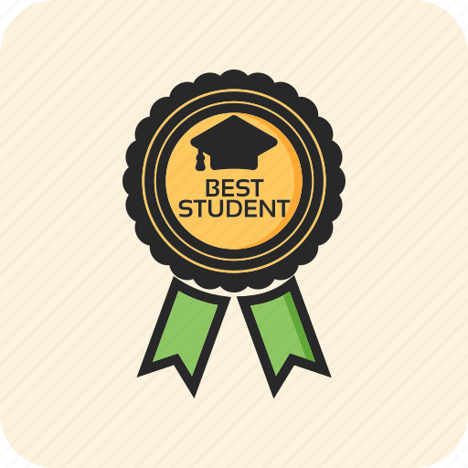 back to school, badge, best student, education icon