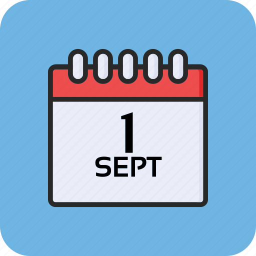 back to school, calendar, education, first of september icon