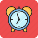 alarm clock, back to school, morning, study icon