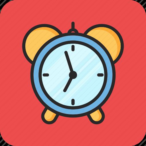 alarm clock, back to school, morning, study icon