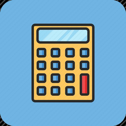 back to school, calculator, maths, study icon