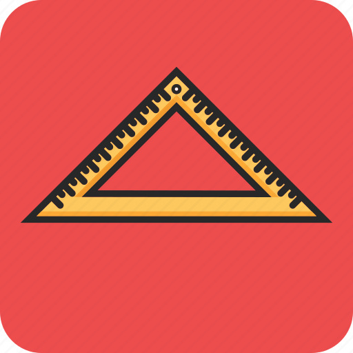 angle ruler, back to school, education, study icon