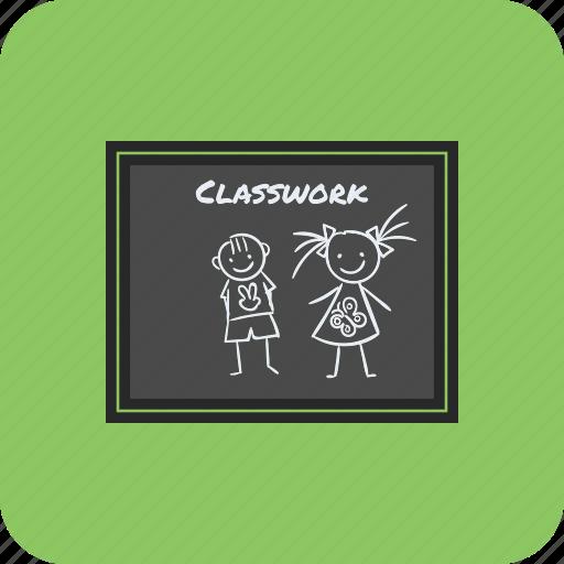 back to school, blackboard, chalkboard, classwork icon