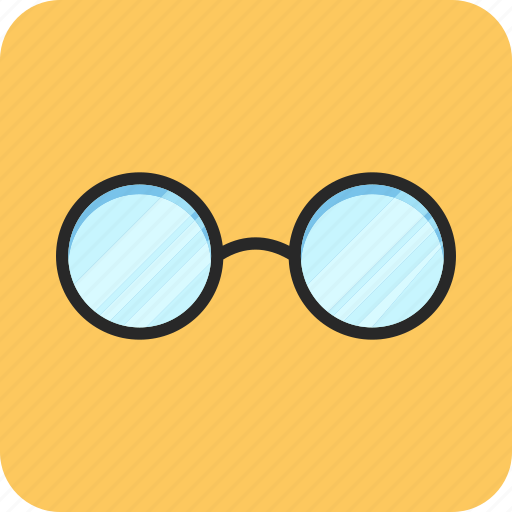 back to school, glasses, office, study icon