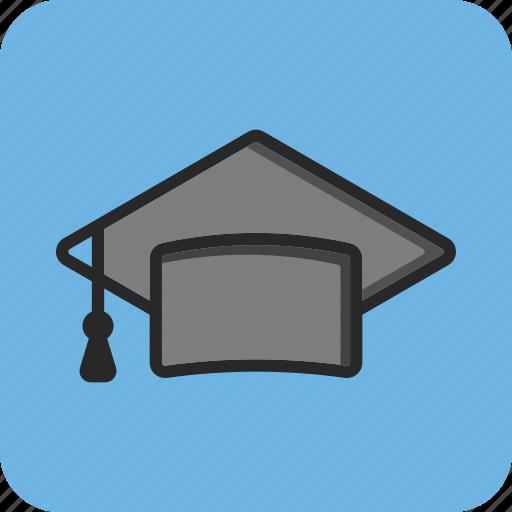 back to school, education, graduate cap, study icon
