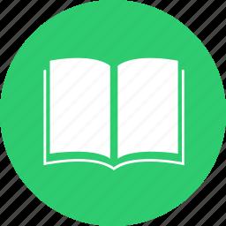 book, circle, learn, literature, school, study, subject icon