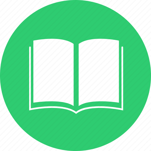 book, circle, learn, literature, school, study, subject icon
