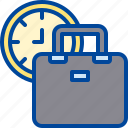 briefcase, business, management, time, work