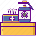 sanitize, station, disinfection icon