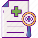 declaration, health, screening icon