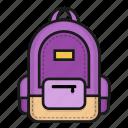 bag, bagpack, school icon