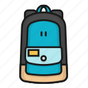 bag, bagpack, college, school icon