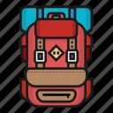 bag, bagpack, hiking, mountain