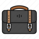 bag, bagpack, business, leather, luggage, suitcase icon