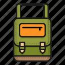 bag, bagpack, sling bag, waist bag icon
