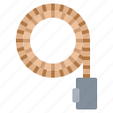 cable, line, loop, rope icon