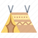 camp, marquee, shelter, tent icon