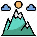 altitude, forest, landscape, mountain, nature, scenery, trees icon