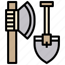 axe, camping, equipment, repair, shovel, tool, tools icon