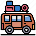 camper, camping, car, transport, travel, van, vehicle icon