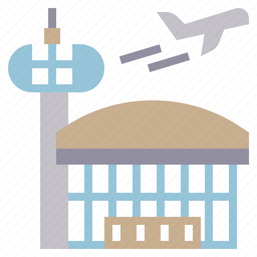 airplanes, airport, building, tower, traffic, transportation, travel icon