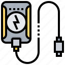 backup, battery, power, usb icon