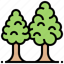 foliage, forest, plant, tree icon