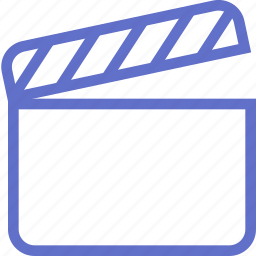 clapperboard, film, player, shoot, video icon