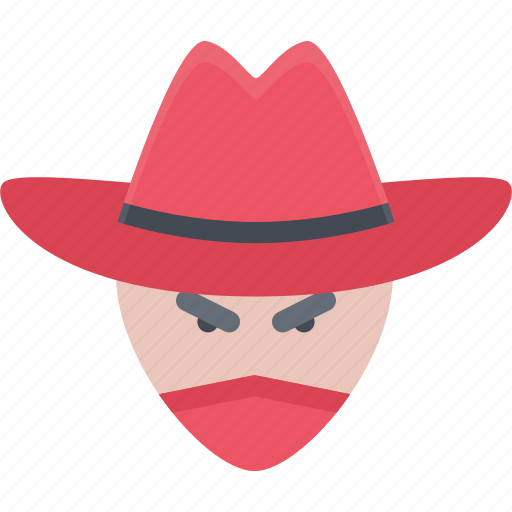 bandit, bandits, cowboy, wild west icon