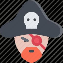 bandit, captain, pirate, pirates, sailing, sea icon