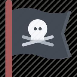 bandit, flag, pirate, pirates, sailing, sea icon