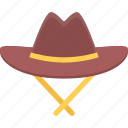 bandit, bandits, cowboy, hat, wild west icon