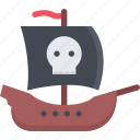 bandit, pirate, pirates, sailing, sea, ship icon