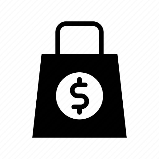 backpack, bag, dollar, shop, suitcase icon