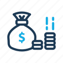 bag, business, money icon