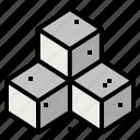 cube, sugar icon